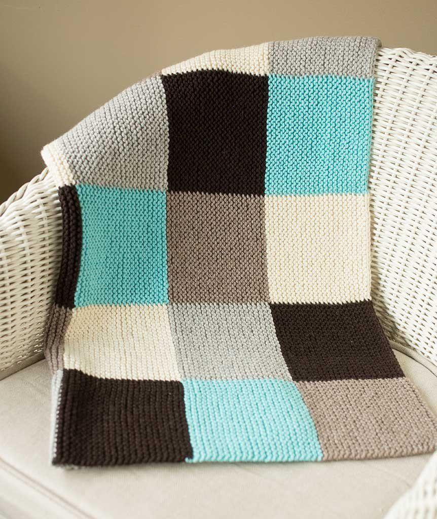 Garter Blocks Baby Blanket Using Spud & Chloe Sweater   Yarns ...