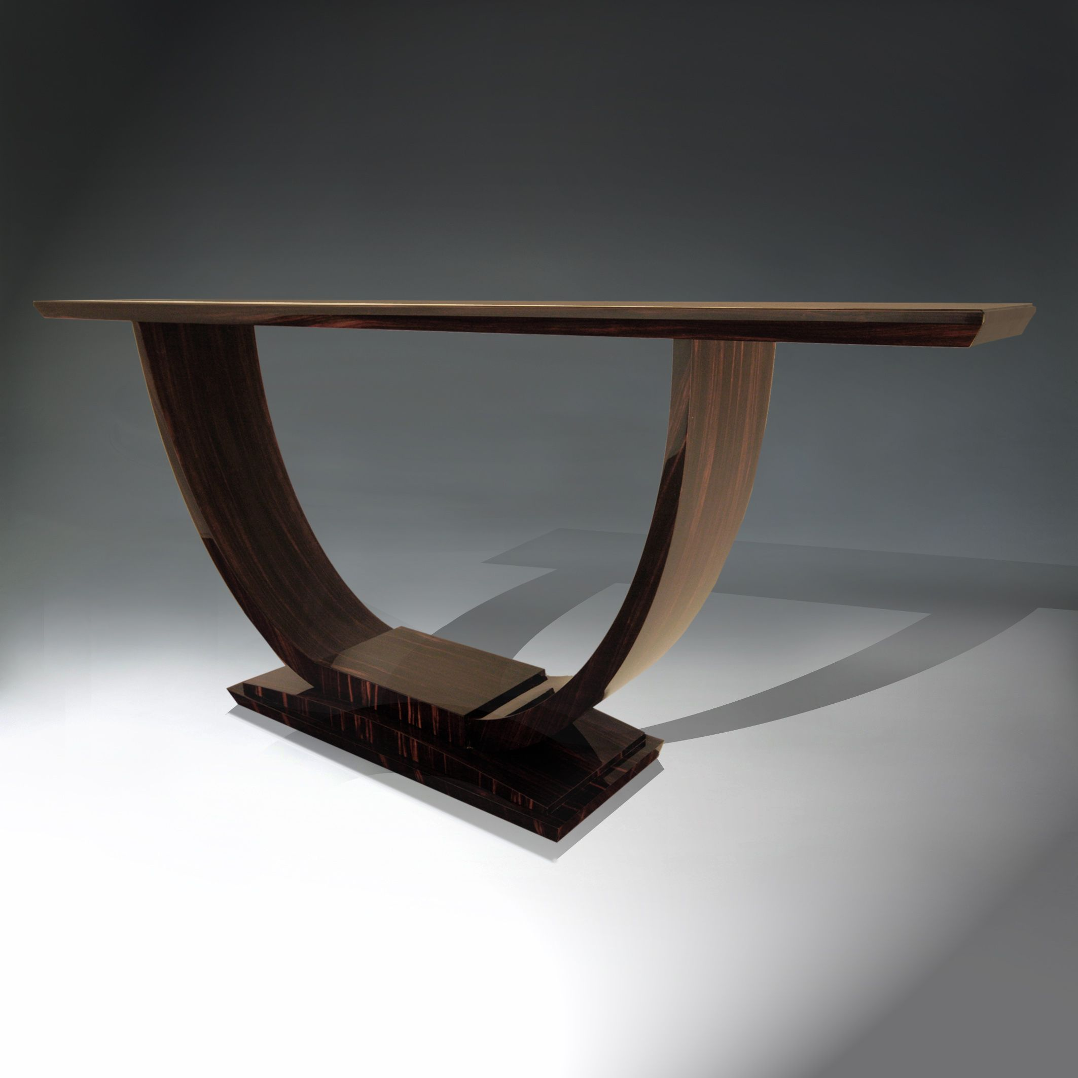 Console table in macassar ebony portfolio 1 residential console table in macassar ebony geotapseo Image collections