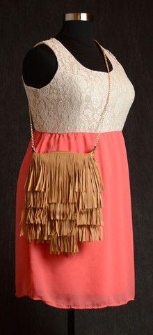 Pink & Lace Sleeveless Dress