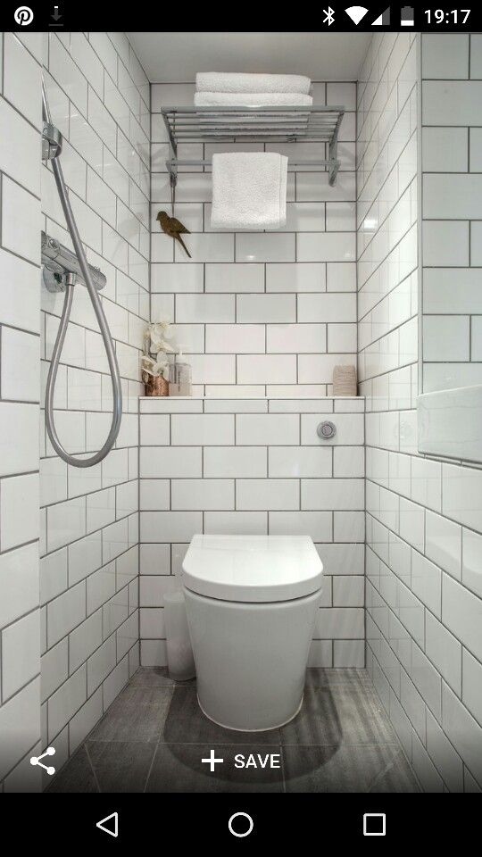 Single Toilet Small Wet Room Small Shower Room Tiny Bathrooms