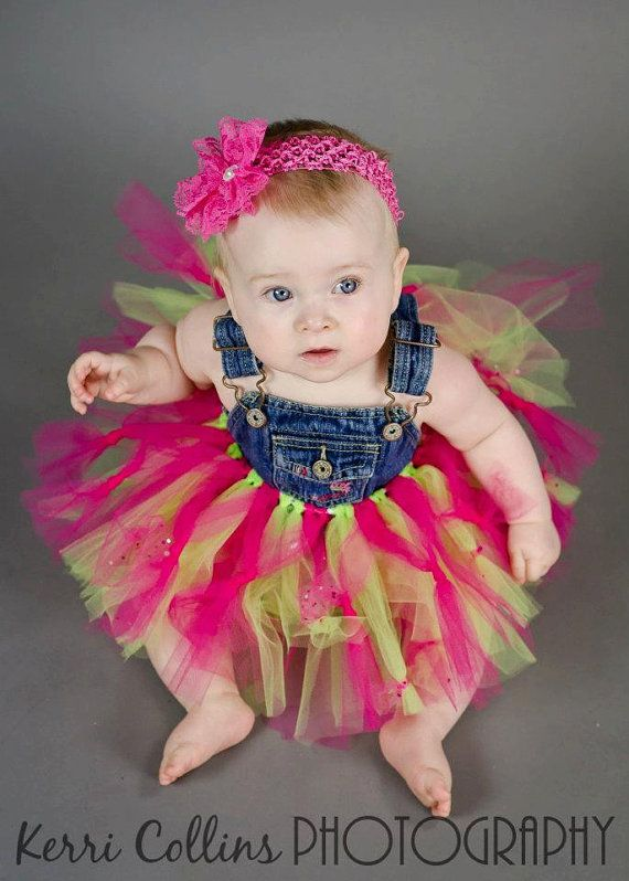 Pink and Green Overall Tutu Princess Dress Size by UneeklyUurs ...