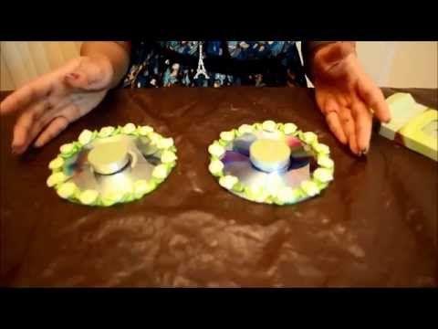 Diy c mo hacer candelabros de residuos de cd mejor de - Como hacer candelabros ...