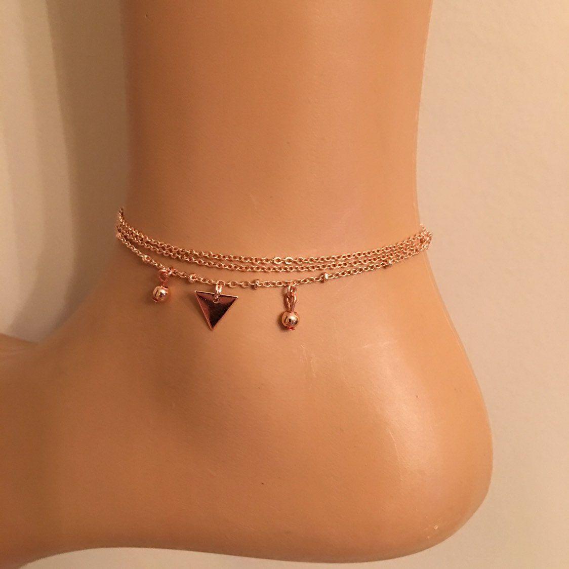 Rose Gold Jewe Multistrand Bracelet Gift for Her Birthday Gifts Best Gift Bracelet Rose Gold Plated Multistrand Evil Eye Charm Bracelet