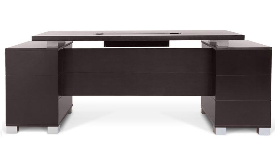 Ford Desk Dark Dark Wood Desk Modern Executive Desk Modern Desk
