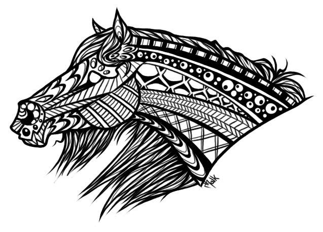 Indian folk art templates google 39 da ara zentangle colouring pages indian folk art art - Mandala de chevaux ...