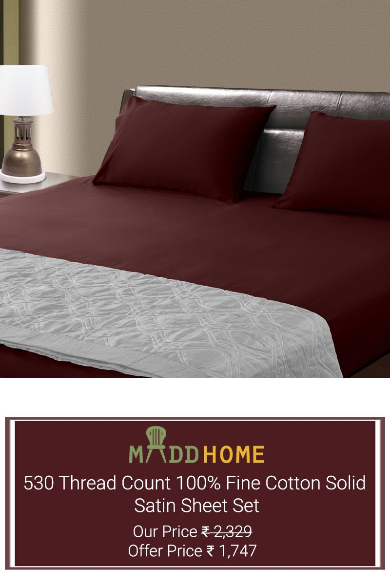 Grab the best from maddhomes exclusive cotton sheet set collection