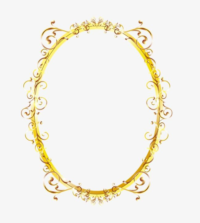Oval Frame Oval Box Yellow Box