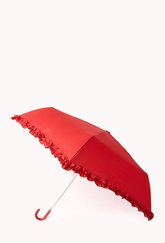 Ruffled Travel Umbrella | FOREVER 21 - 1000051975