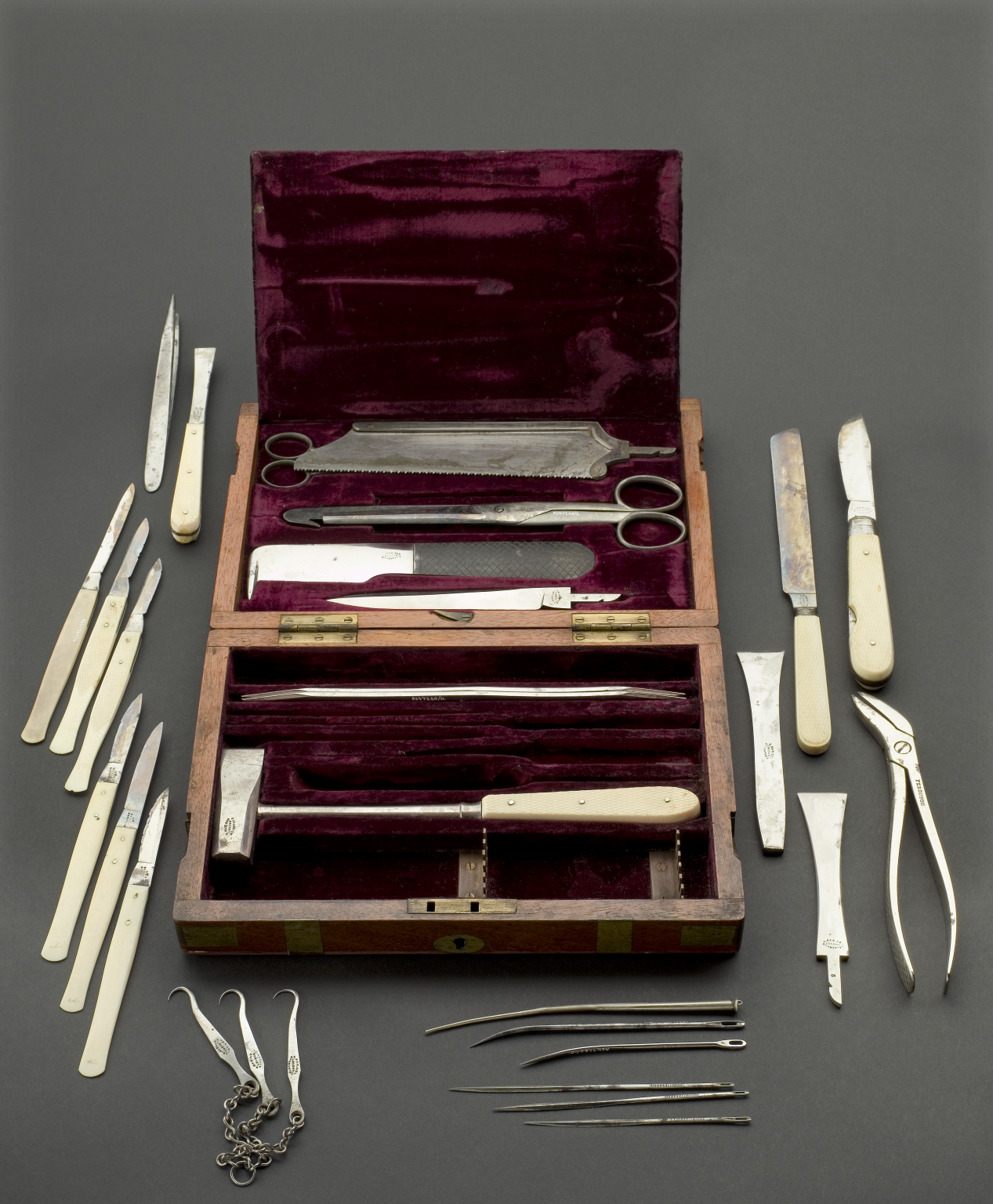 Made From Steel With Ivory Handles, The Set Contains