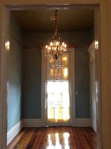 Room Dining With Attached Front Balcony And Gilded Gold 12 Ft Ceilings