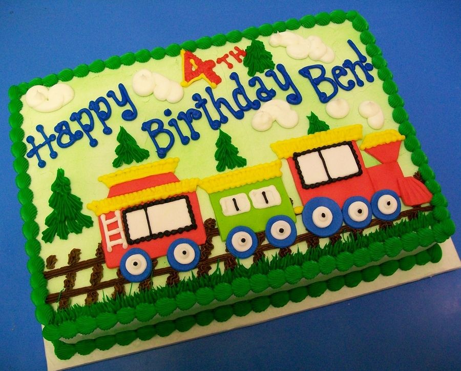 Incredible Train Sheetcake Birthday Sheet Cakes Train Birthday Cake Funny Birthday Cards Online Fluifree Goldxyz
