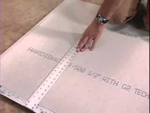 James Hardie Hardiebacker Tile Backer Board Installation Video It S An Addd But Its Very Informative Just Ignor Diy House Projects Diy Tile Tile Layout