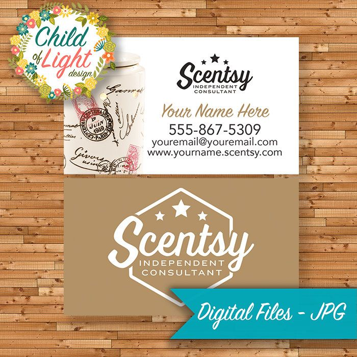 Authorized Scentsy Vendor - Business Cards - Custom Business Card ...