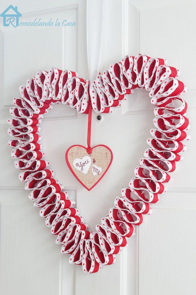 Photo of Double ribbon valentine wreath