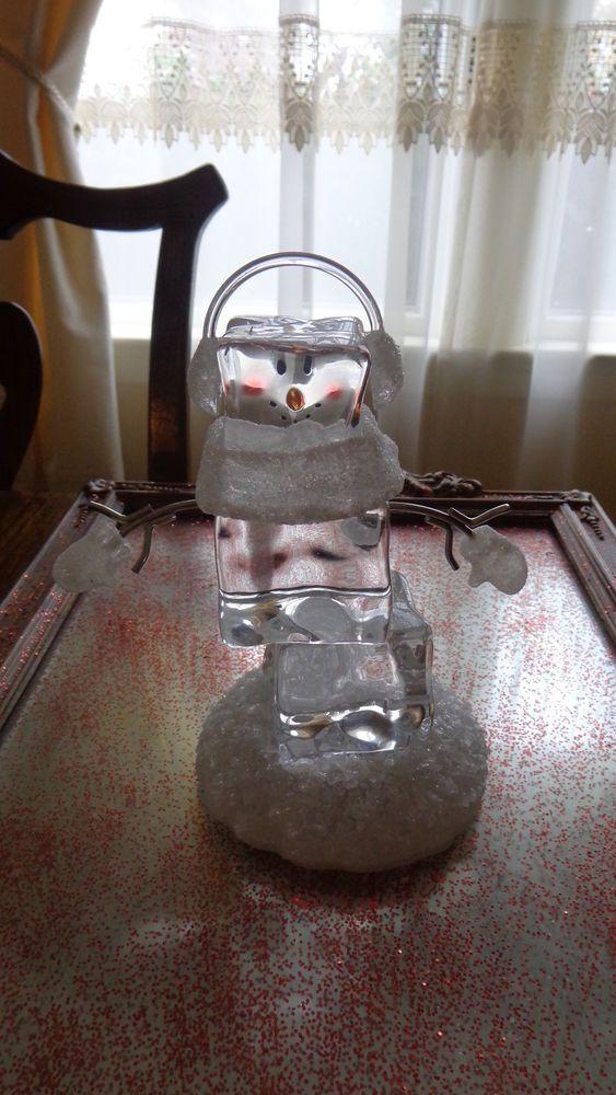Dept 56 Ice Cube Snowman Lighted Cube Snowman Ice