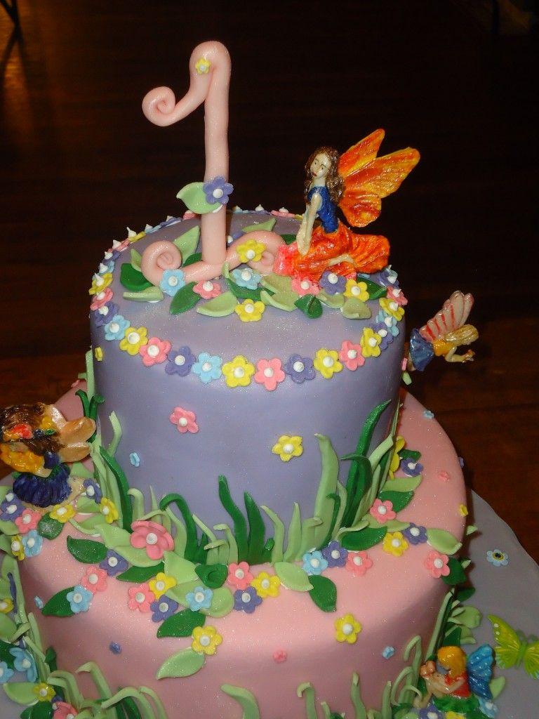 Fairies Cake Enchanted Garden Birthday #3 | Cake, Fairy ...