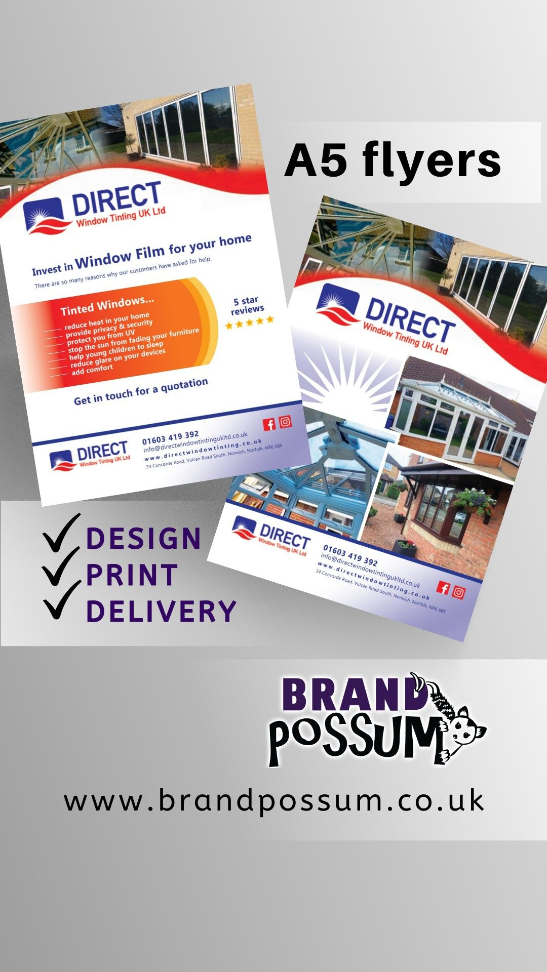 Brand Possum Flyers Design Print Delivery Graphic Design Portfolio Print Graphic Design Services Flyer