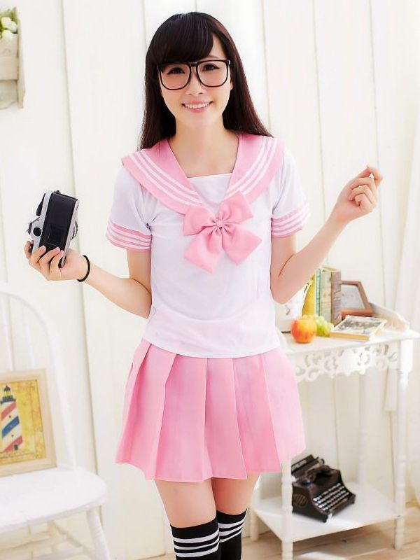 308d11a9b5 New Cosplay Costume Set 3 Colors KK576 Super Kawaii High Quality Anime  Uniform Japanese School Girl