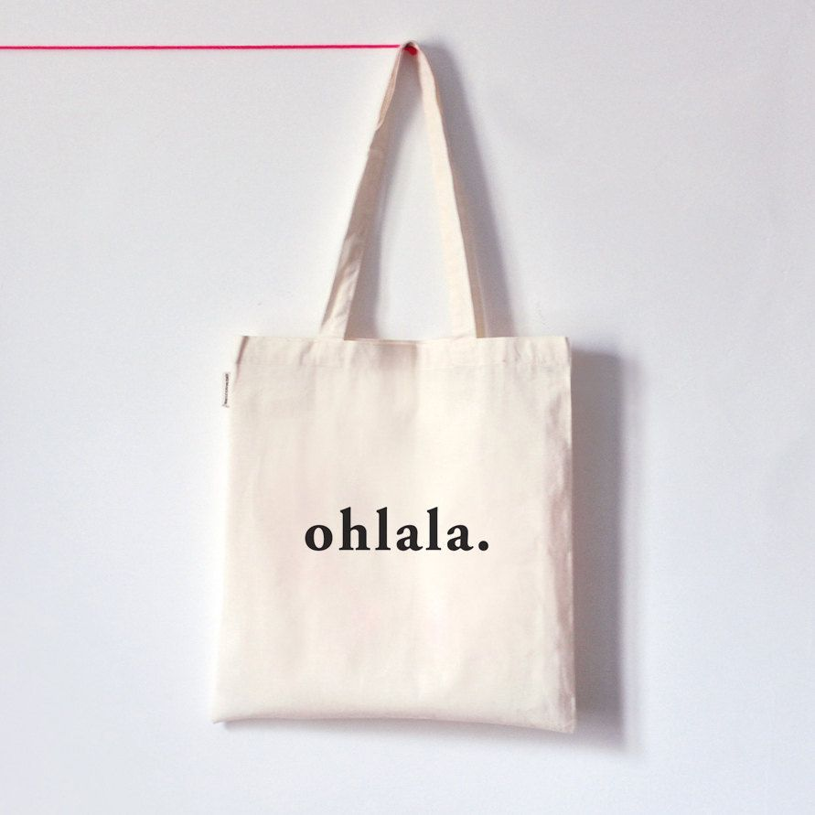 Tote bag template illustrator - Ohlala Organic Cotton Tote Bag Screen Printed By Oelwein 14 00