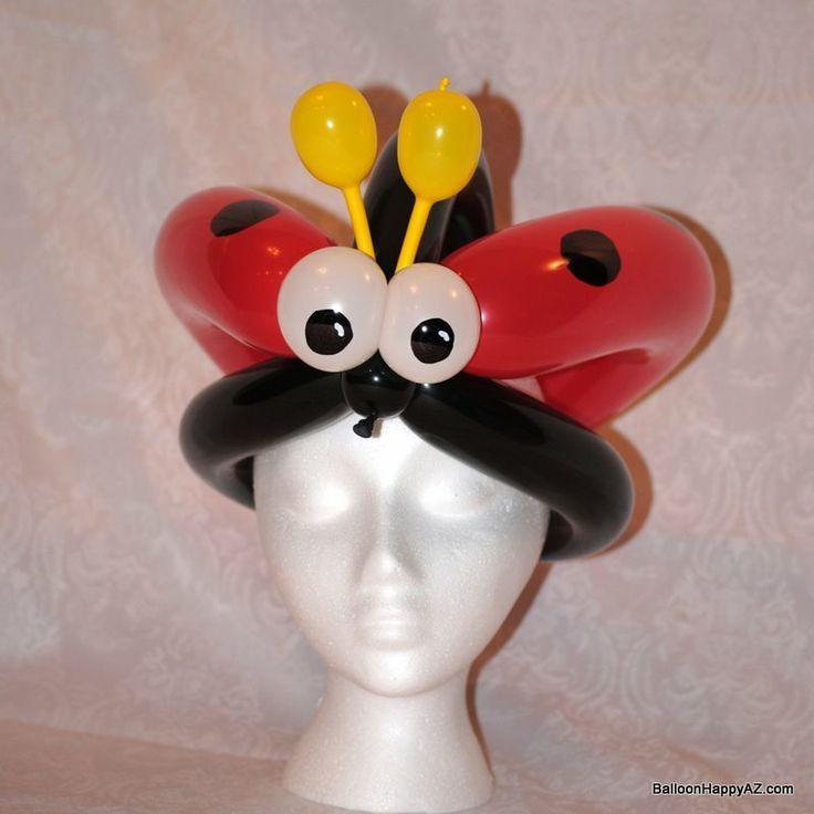 balloon ladybug hat Balloons to try Pinterest Globo, Figuras