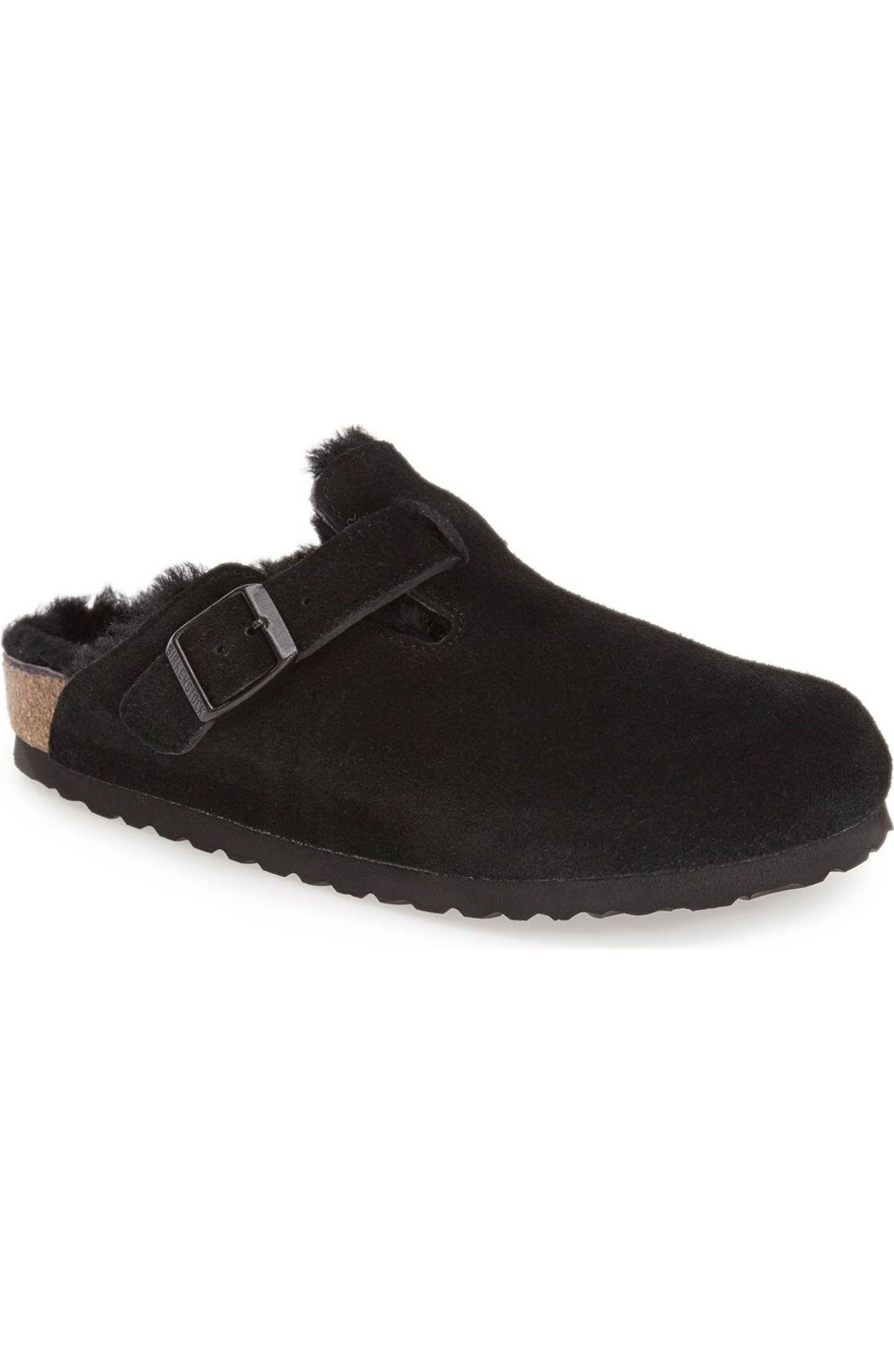 982069dab Main image birkenstock boston genuine shearling lined clog jpg 1520x2332  Lined clog shoes