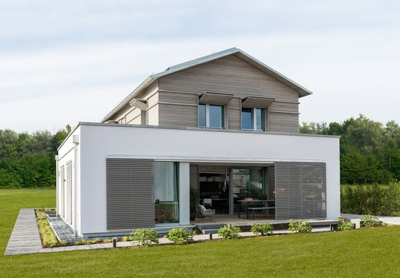 Modernes Satteldachhaus modernes energiesparhaus mit satteldach haus naturdesign baufritz