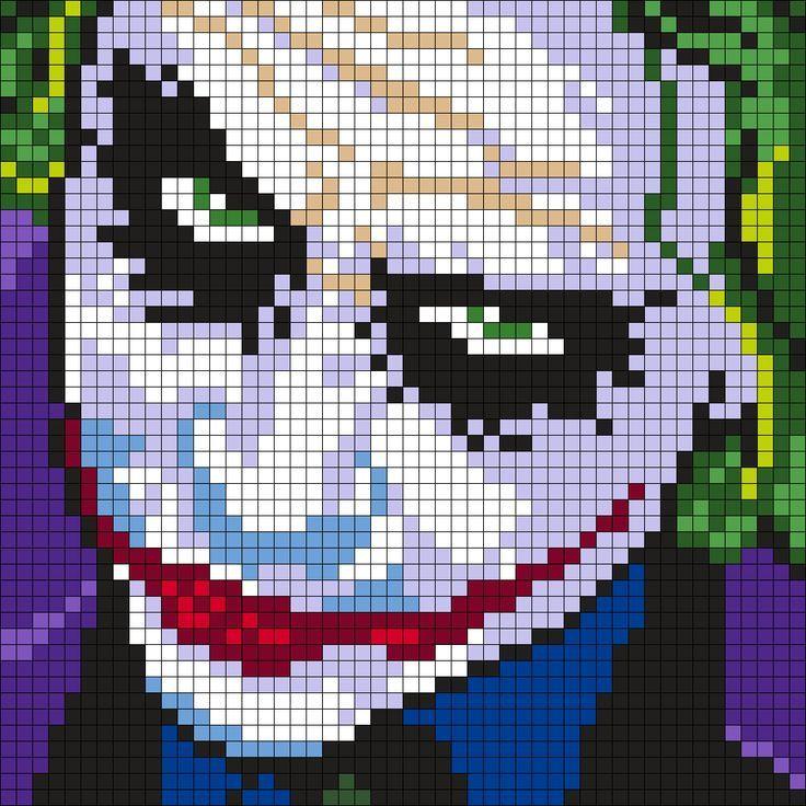 Pixel Art Joker Google Search Avec Images Dessin