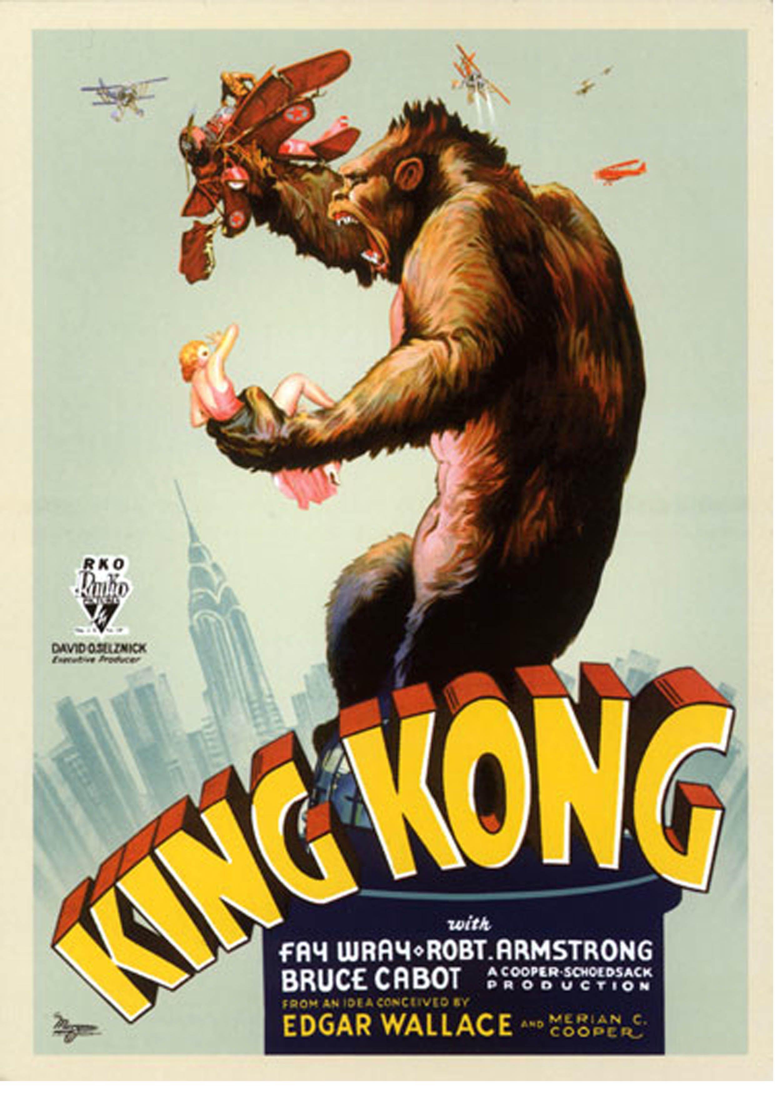 King Kong Poster 1933 King Kong Movie King Kong 1933 King Kong