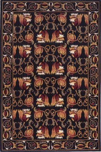 8x10 William Morris Arts Crafts Mission Style Black Wool Area Rug | EBay