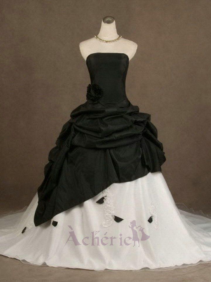pingl par sur robe de mari e princesse black wedding dresses gothic. Black Bedroom Furniture Sets. Home Design Ideas