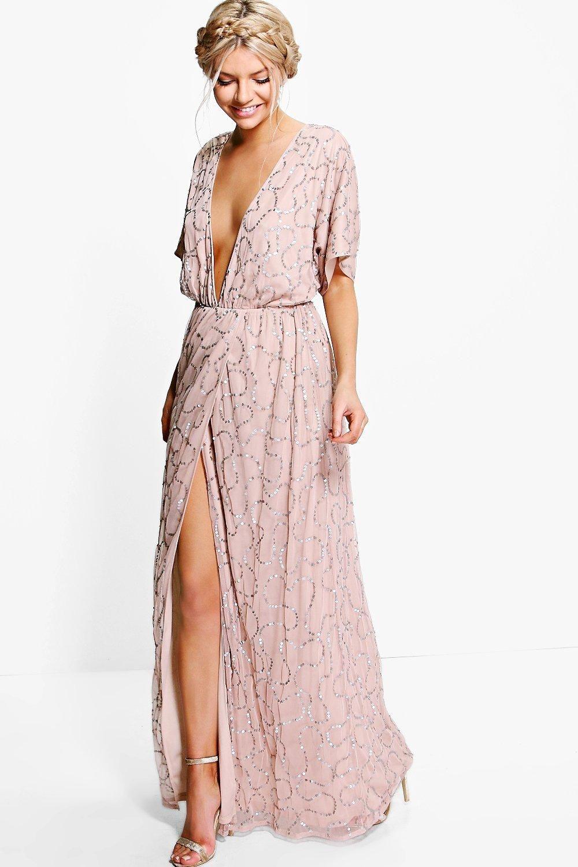 Boutique Sequin Plunge Maxi Bridesmaid Dress Boohoo Uk Plunge Maxi Dress Maxi Bridesmaid Dresses Sequin Maxi Dress