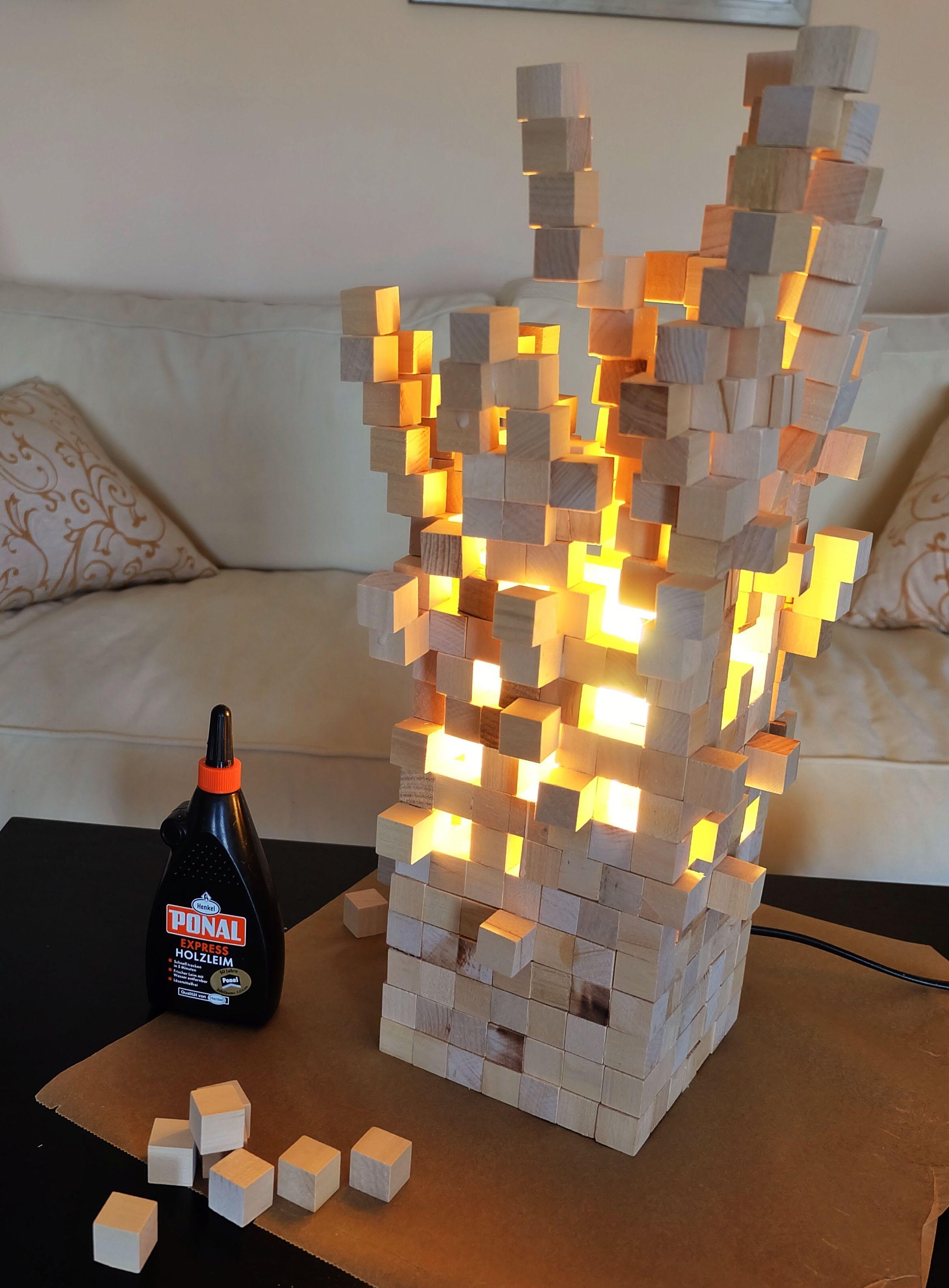 Top View Artofit Wood Wall Art Diy Minecraft Bedroom Decor Cube Lamps