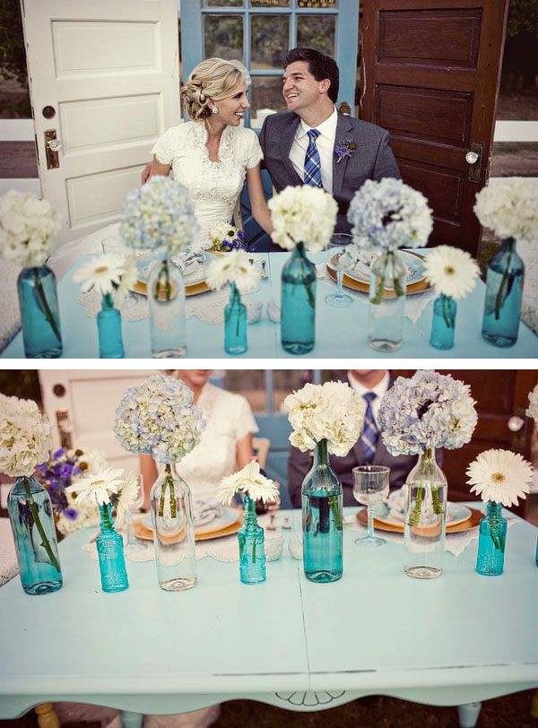 Glass Bottles For Wedding Decorations Vintage Glass Bottles ~ Ideas For Vintage Rustic Wedding