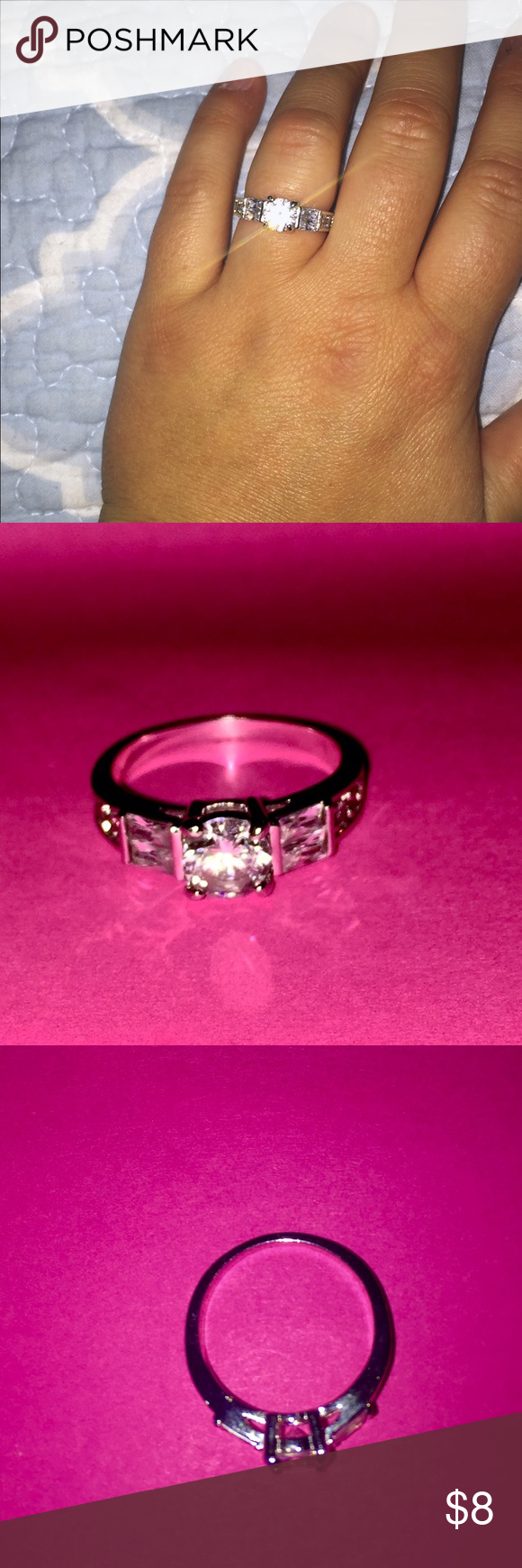Ring Diamond Candle ring! Not real but beautiful! Closet clean out ...