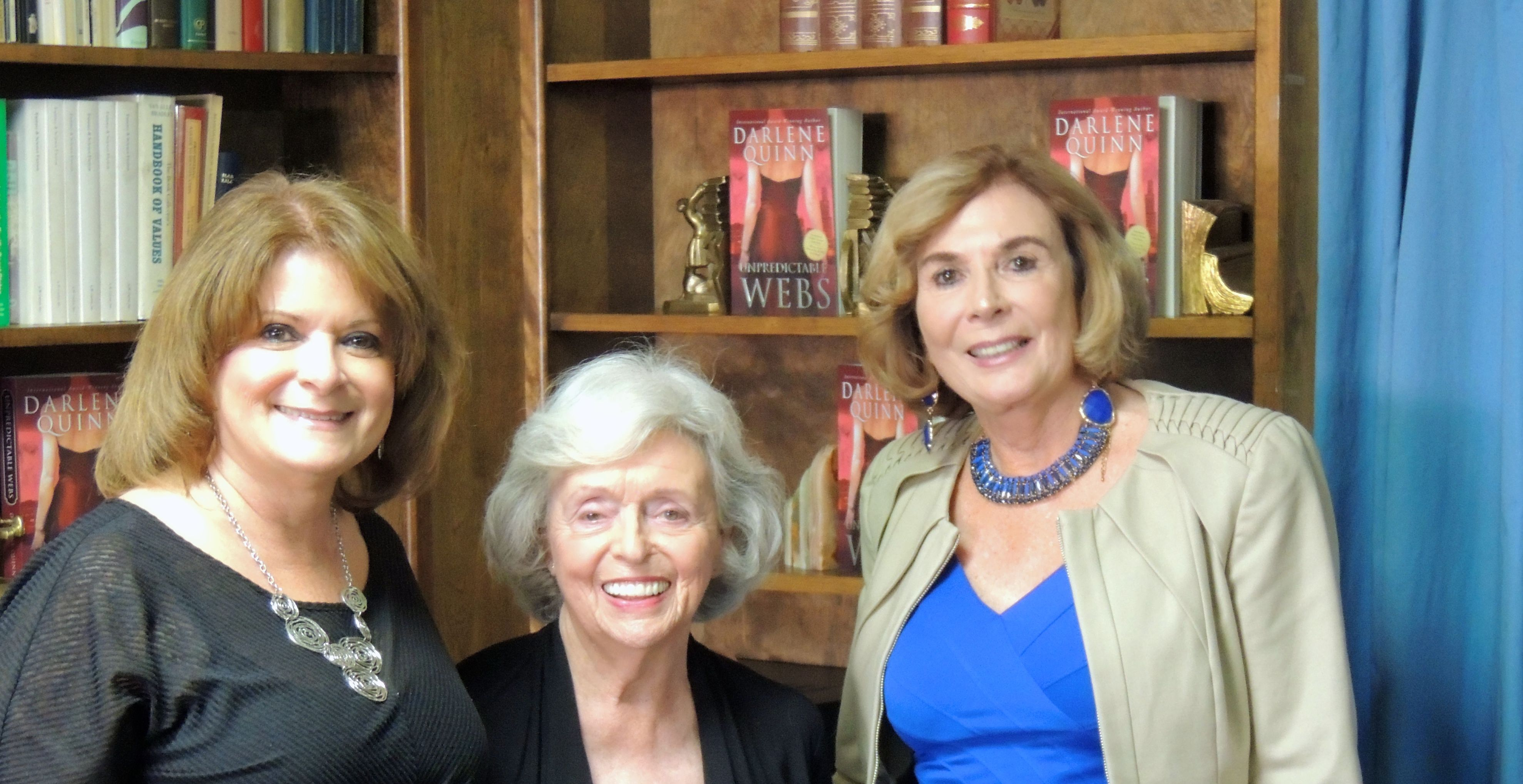 My assistant, Kathy Porter, an award winning author of science fiction and independent bookstore owner, Anne Saller.