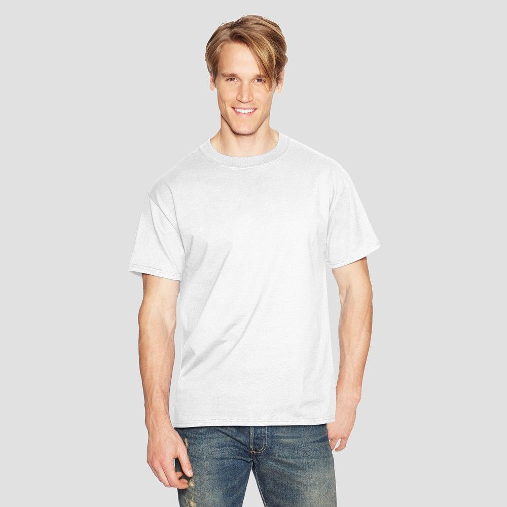 6203d5be Hanes Men's Tall Short Sleeve Beefy T-Shirt - White. For over 35 years the Hanes  Beefy-T has set the standard for T-shirt comfort and quality.