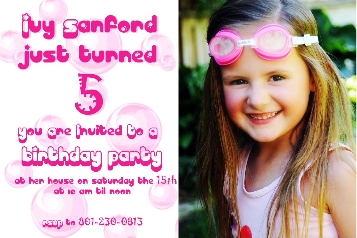 Cool 5 Years Old Birthday Invitations Wording