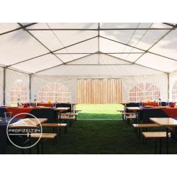 Giebelteil Xxl 8 x 2,6 m für Partyzelte, Pavillons, feuersicher, weiß Gartenzelt, Festzelt, Pavillon