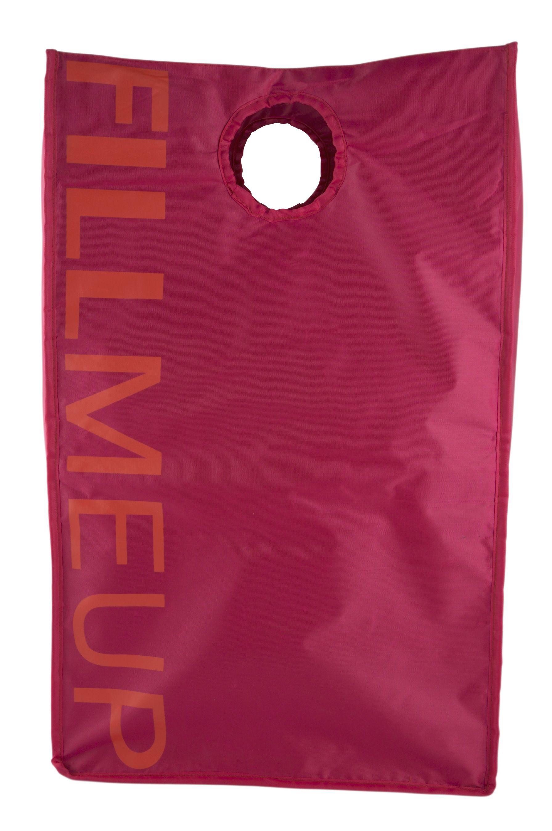 Zone-Denmark » Zone Confetti Vasketøjskurv / Opbevaringspose - Hindbærrød / Pin --- Findes i mange farver - fx. en til hvidt, en til mørkt og en til rødt/lilla