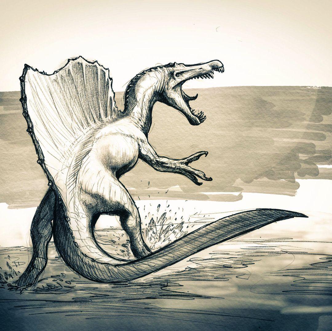 "Frederic Wierum���� on Instagram: ""The Ancient Pharaoh #spinosaurus #dinosaur #egypt #art #cretaceous"""