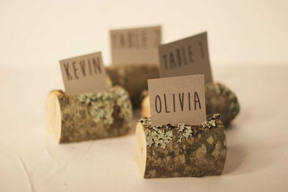 Wedding 130 Pieces. Wood Rustic Table Name Tag Holders