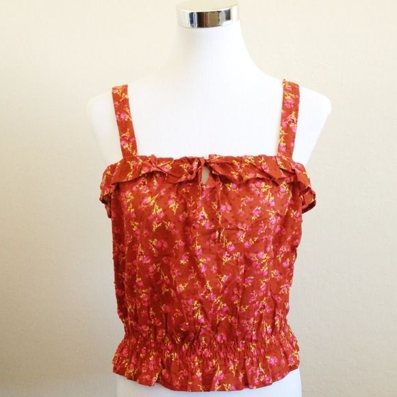 Floral Top New without tag // Never been worn // Tags says large but will also fit a medium Forever 21 Tops