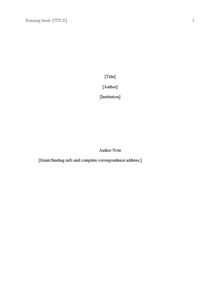 Easy Apa Format Template from i.pinimg.com