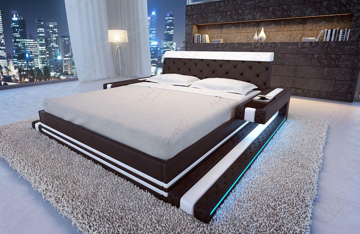 Designer Bett IMPERIAL mit LED Beleuchtung von NATIVO