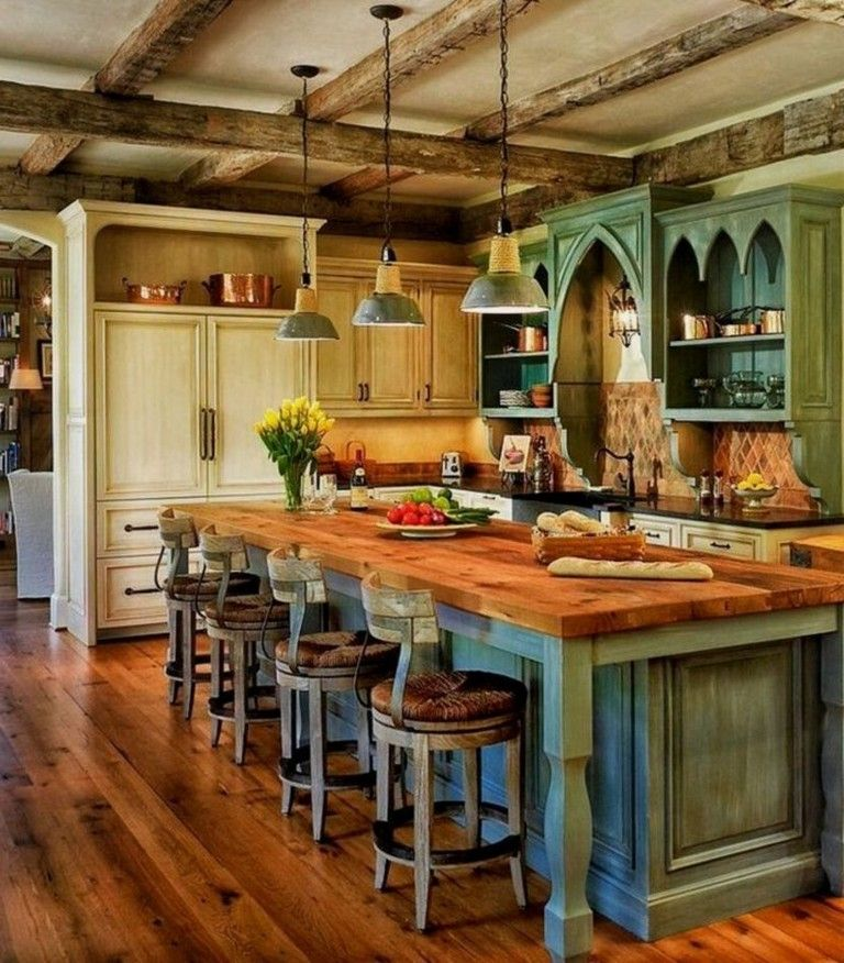 43 Extremely Creative Small Kitchen Design Ideas: 40+ Magnificent Rustic Kitchen Island Design Ideas