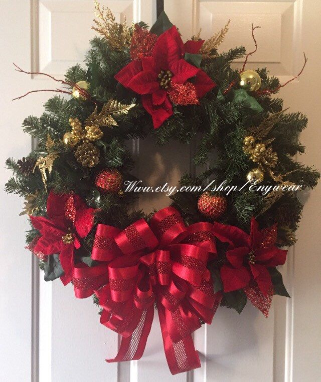 A personal favorite from my Etsy shop https://www.etsy.com/listing/490288847/traditional-red-and-gold-christmas-pine