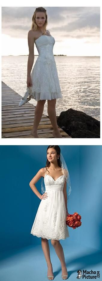 Short beach wedding dress - 3 PHOTO! | Wedding dress | Pinterest ...