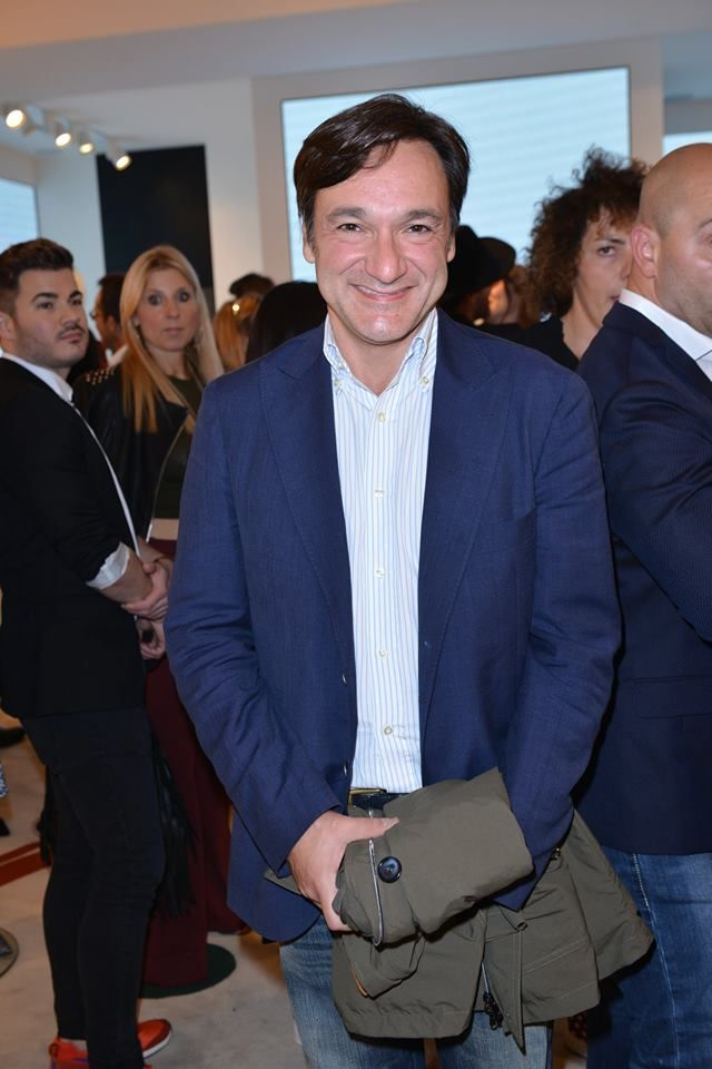 Fabio Caressa at #THEPINKOINVASION #sunglasses collection launch event #PINKO #MFW #SS16