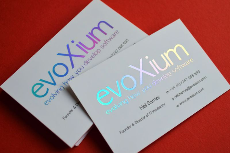 Evoxium approached us to create a business card with holographic evoxium approached us to create a business card with holographic foil visit today reheart Images