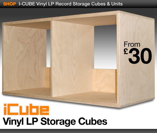 Vinyl Storage Cubes Wooden Lp Units 12 Record Boxes Dj Furniture Almacenamiento De Vinilo Almacen Cubos De Almacenamiento